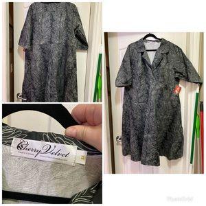 Cherry Velvet Plus Size 3X Dress